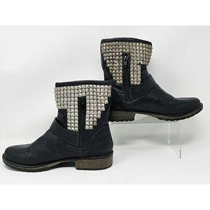 "SM New York ""Riley"" studded moto boots"